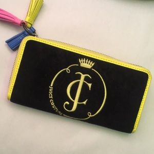 Juicy Couture Velour Neon Wallet
